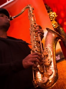 Saxophonist Mylon Clarke who was just awarded the $20,000 Berklee School of Music Scholarship and is part of the Honey Jazz Band.