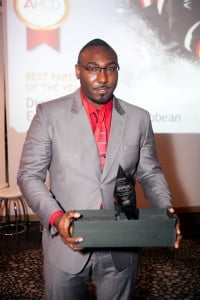 Enterprise Account Manager at Digicel Business, Duwayne Watson, with the award for Partner of the Year at the Avaya Partner Connection Day event held in Puerto Rico on January 16