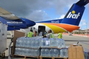 "Mr. Dundas explained that the shipment consisted of water ""which remains an essential need"" and other critical items such as blankets and sheets which were acquired from many donors and sponsors in Antigua and Barbuda."