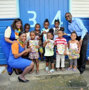 During the 2013 Christmas season, members of the LIAT crew and FDCC officials took time out to spread cheer and give gifts to over 1400 children in the Roving Caregivers Programme across Grenada, St Lucia and Dominica.