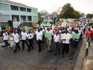 The large and peaceful demonstration saw hundreds baring various placards that spoke to a number of issues mainly the long 13 month delay in debating a Motion of No Confidence which was filed since December 11th 2012.