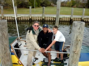 Victor Mooney stops at the home of Fleisher Tubes, Inc. CEO on Long Island during the Spirit of Malabo sea-trials.