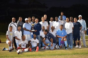 The True Blue weekend is an expansion from the annual Ziadie Cup soccer match between The St. George's College Old Boys Association of Florida, Inc. and The Jamaica College Old Boys Association of Florida, Inc.