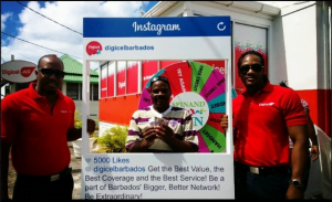 Livingston Layne, was the lucky Day 4 winner of $600 cash when he participated in Digicel's 10th Anniversary Spin & Win at Digicel Coconut Walk.