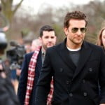 Bradley Cooper at the Burberry Prorsum Womenswear Autumn Winter 2014 Show