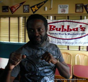 Inset is Jason Greene... Sensei Rollins Alleyne told reporters how Fighters from Trinidad, Martinique, Guadeloupe, St Lucia, Jamaica, and host country, Barbados will compete at the event.