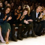Felicity Jones Naomie Harris Tinie Tempah Harry Styles and Mario Testino at the Burberry Prorsum Womenswear Autumn Winter 2014 Show in London