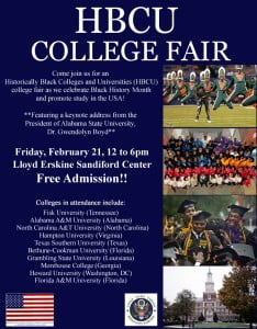 {CLICK FOR BIGGER} The HBCU College Fair will feature ten HBCU admissions representatives to support 100,000 Strong in the Americas, which is an initiative launched by President Obama to increase international study in Latin America and the Caribbean, as well as foster region-wide prosperity through greater international exchange of students.