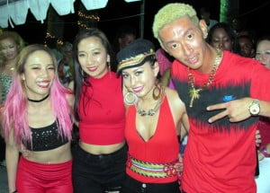 Japanese Soca Monarch finalist Ann G (centre) added international flair to the event