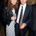 Keira Knightley and James Righton wearing Burberry at the Harvey Weinstein BAFTA Dinner in partnership with Burbery in London 14 February 2014