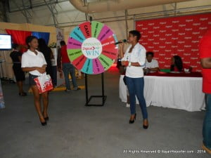 CLICK FOR BIGGER: Many patrons who were Post Paid customers of Digicel were surprised there was only a contest for Pre Paid users, and felt rather excluded...