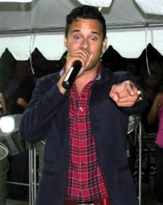 Soca heatthrob K Rich keeps the crowd moving at the 2014 CWC Fete