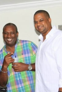 DJ Radciffe, First Fridays of Florida (left) & Tyrone G. Robertson CEO of Caribcast (right)
