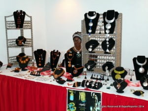 Azizah has been making jewellery for the last 16 years but using metal only since last year, this time she formed a strategic alliance with 5th Element to make Bajans aware of her craft when they passed at Divi Southwinds
