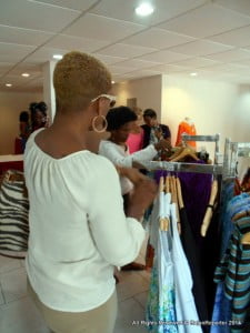 Jewel Forde of CBC TV8 paused in her busy schedule over the weekend and came to Harmony Hall, St Lawrence and browse Andrea King's many versatile creations