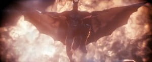 (SCREENSHOT FROM TRAILER) In the explosive finale to the Arkham series, Batman faces the ultimate threat against the city he is sworn to protect. The Scarecrow returns to unite an impressive roster of super villains, including Penguin, Two-Face and Harley Quinn, to destroy The Dark Knight forever.