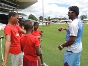 West Indies pace bowler, Ravi Rampaul, talks technique and seam positioning with these aspiring bowlers.