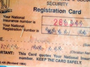 The most interesting find was a NIS registration card bearing a name, NIS number and the National Registration number. Other finds were school books with the name of the pupil inscribed.