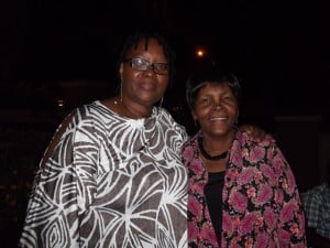 Favourita Blanchard (left) at the farewell dinner with Ferene Sealy, another long-serving Barbadian teacher in Cayman, and secretary to the Barbados Association in Cayman
