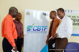 (From left) Manager of the CBTF Management Unit, Anderson Lowe; Commercial Director at the Crane Resort, Michael Phillips; Executive Director of the TVET Council, Henderson Eastmond; and Director of Training at BIMAP, Stephen Savoury discuss the opportunities the CBTF will provide for the Barbados workforce and economy.