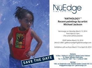 'Anthology' by Michael Jackson: March 15th at NuEdge Galerie in Limegrove (CLICK FOR BIGGER)