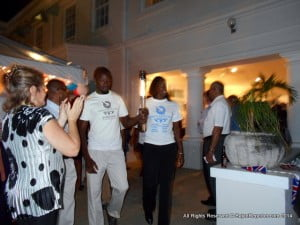 Guests included sportsmen from Barbados teams which qualified for the Commonwealth Games