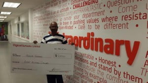 4-time winner, Rudolph Shepherd, collected one of his winning cheques.