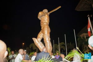 The statue of Sir Viv was unveiled following a ceremony attended by several members of his family including his Mother along with cricketing greats Sir Wes Hall, Sir Ian Botham, Clive Lloyd, Andy Roberts, Curtly Ambrose, Richie Richardson in addition to Antigua and Barbuda Prime Minister Baldwin Spencer and Opposition ALP leader Gaston Browne.