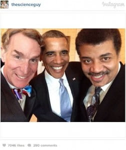 Kal Penn, Bill Nye, and Neil deGrasse Tyson were on hand to showcase the 16 Official Selections, chosen from over 2,500 submissions -- all celebrating the role of technology in the classroom. As you can see, a Presidential selfie was in order.