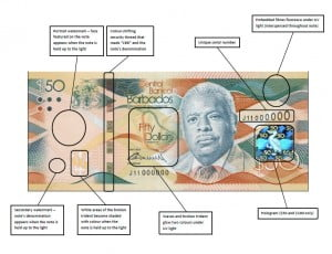 For the first time in forty years, the Bank completely overhauled the design of Barbados' bank notes. In the past, only minor modifications had been made to the original series. The new series issued on June 4, 2013 replaced old and worn-out notes and there are enhanced security features that will make the new notes difficult to counterfeit and easier for the public to authenticate. The new series has a bold, modern design and vibrant hues, and has received positive feedback from the public. Also, tactile marks have been included on the new banknotes to help the visually impaired differentiate between denominations.