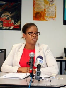 Youth-IN's Project Manager Janine Chase told the press how Social Media such as Twitter and Instagram will be used to alert young people across the Caribbean of the series which is expected to begin in June this year.