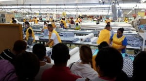 CAIPA members visit a South Korean garment manufacturing company working within a free trade zone in Managua.