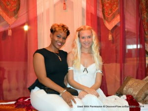 One of the Flow team took a moment in her making sure all fans were happy that night at Limegrove and posed under the tent with the Mother Of Dragons!