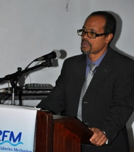 Milton Haughton, Executive Director, CRFM Secretariat, addresses delegates