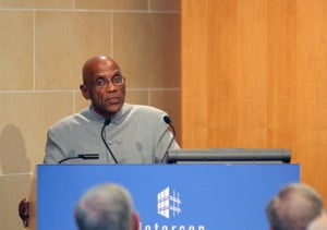 "DeLisle Worrell, governor of the Central Bank of Barbados, addressed the topic ""Macroeconomic Options for Very Small Open Economies,"" on April 17, 2014, at the Peterson Institute for International Economics."