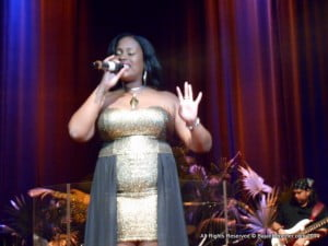 Barbadian Lyn-L wowed patrons with her version of a Nina Simone classic...