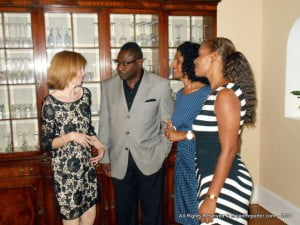 (Left to Right) H.E. Victoria Dean - British High Commissioner for B'dos & Eastern C'bean; Steve Blackett - B'dos Min. of Social Care; Sen. Dr Esther Byer Suckhoo - Labour Minister and founder of SAVE - Liesl Daisley