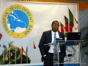 Dr. Justin Ram, Director, CDB, provides a review of the Region's economic development in 2013 and discusses the outlook for 2014 during Annual Media Conference in their Wildey HQ's