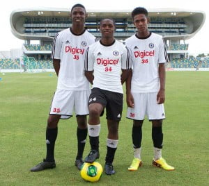 Team Bermuda at 2013 Digicel Kick Start Academy in Barbados, Te'Vahn Tyrell, Amar Lewis, Tyriko Williams