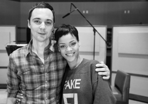 "{IMAGE VIA - capitalfm.com} Rihanna joins ""The Big Bang Theory"" star Jim Parsons, Jennifer Lopez, and Steve Martin, who will also voice characters in the film."