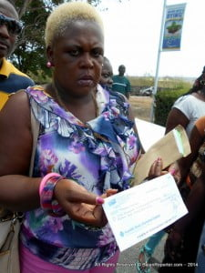 This NCC member is boiling over the cheque shown, since not only is the amount short - the signatures are incorrect and she says the fact it's handwritten meant it was prepared in a hurry, since the NCC wages are always printed and only signatures are handwritten.