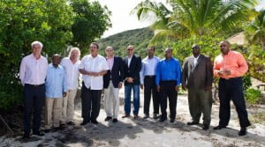 Sir Richard Branson, 3rd from l. with Caribbean leaders, following the the Carbon War Room's '10 Island Renewable Challenge in February. (CWR Image)