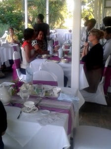 Guests had an enjoyable evening at the recent reopening of Chatter's Tea Room.
