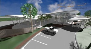 An artist's impression of the new, state-of-the-art FBO building. (SXM photo)