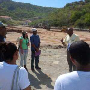 Graduate students from the University of Technology (UTECH) in Jamaica visited Montserrat this week to look at its development in relation to their studies on built environment.