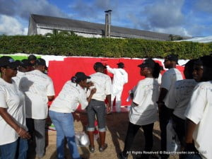 """Mount Gay Distilleries Ltd (MGD), just held their training and team-building event called """"The One Team Meeting"""" and part of the activity was colleagues doing like school days and writing on their pals' shirts as a memento."""