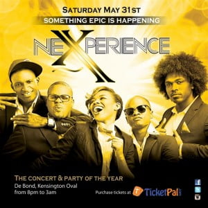 NeXperience starts at 8 pm. Tickets are available now at www.TicketPal.com and TicketPal outlets islandwide.