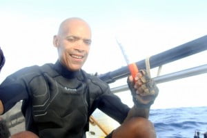 Mooney becomes the first African American to row across any ocean. The Atlantic Rower celebrates his successful crossing of the Atlantic Ocean on board The Spirit of Malabo.