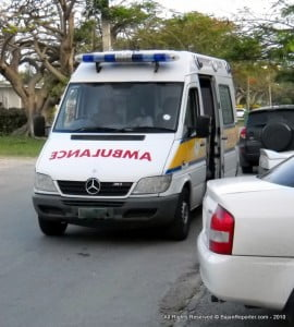 13 passengers complained of injuries; 3 of those passengers were assessed as being serious and were transported to the QEH by ambulances.  The remaining passengers were transported to the Glebe Polyclinic for further medical attention.