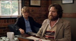 """When his off-the-grid best buddy Ben Baker (Zach Galifianakis) inherits his estranged father's fortune, womanizing local weatherman Steve Dallas (Owen Wilson) joins forces with him to battle the legal challenge brought by Ben's formidable sister (Amy Poehler), in the hilarious big-screen directorial debut from """"Mad Men"""" creator Matthew Weiner."""